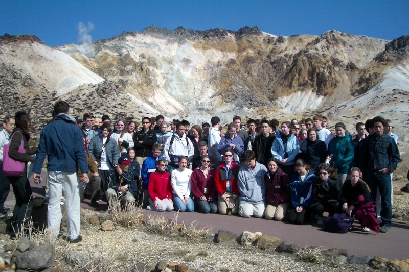 2004 at Mt. Esan, the active volcano at the southeastern end of the Oshima Peninsula in Hokkaido